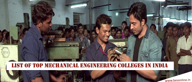 List of Top Mechanical Engineering Colleges in India