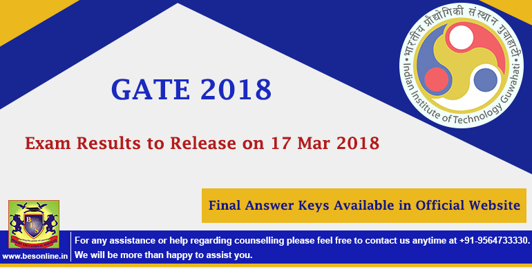 GATE 2018 Exam Results to Release on 17 Mar 2018, Final Answer Keys Available in Official Website