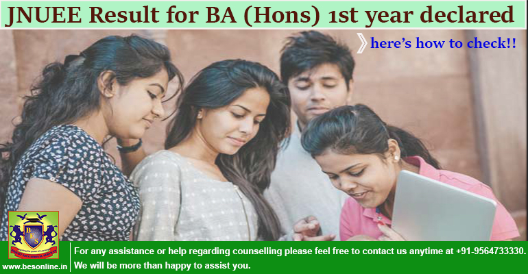 JNUEE Result for BA (Hons) 1st year declared