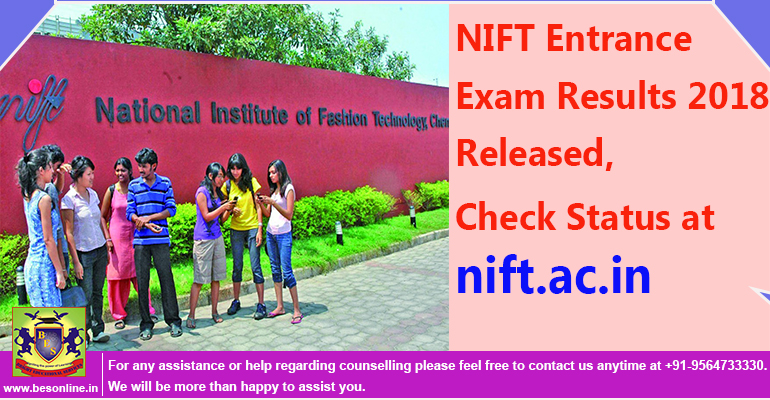 NIFT Entrance Exam Results 2018 Released, Check Status at nift.ac.in