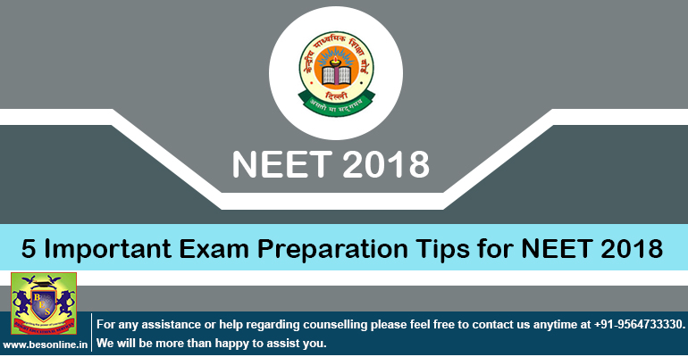 5 Important Exam Preparation Tips for NEET 2018
