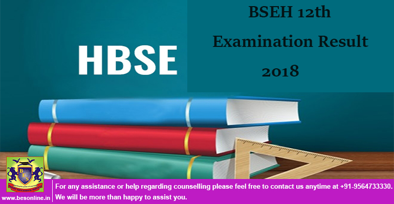 BSEH [HBSE] 12th Examination Result 2018