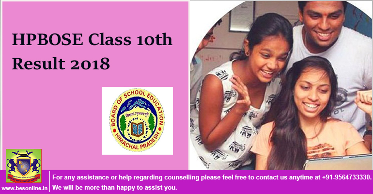 HPBOSE Class 10th Result 2018