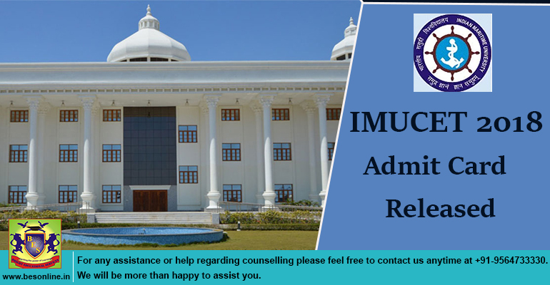 IMUCET 2018 Admit Card Released
