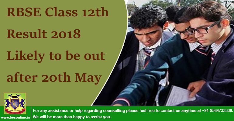 RBSE Class 12th Result 2018 Likely to be out after 20th May