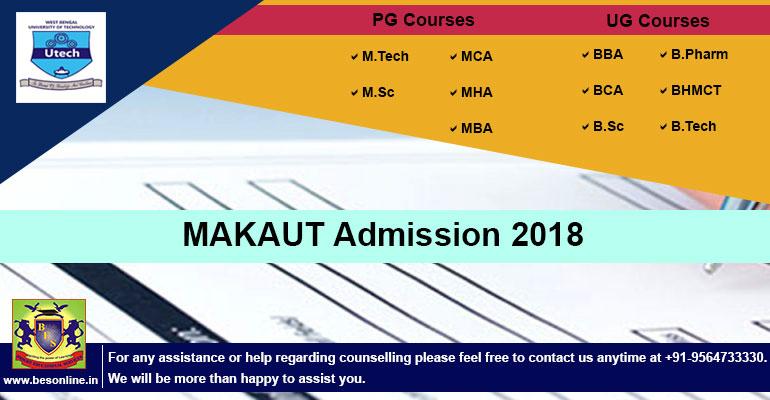 MAKAUT Admission 2018