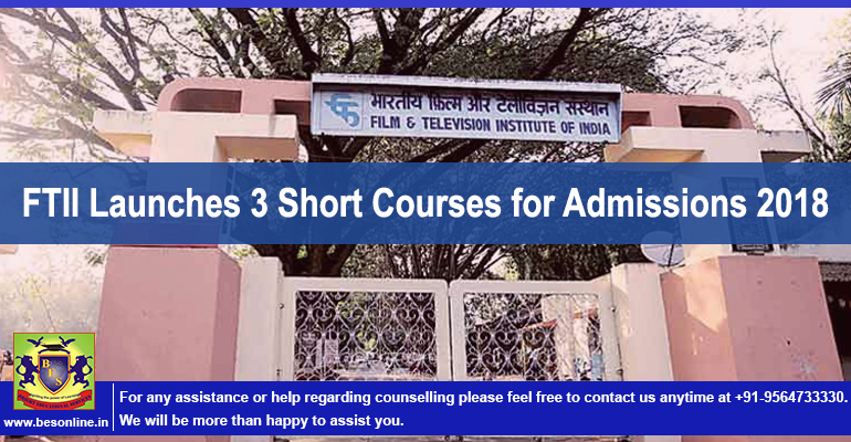 FTII Launches 3 Short Courses for Admissions 2018