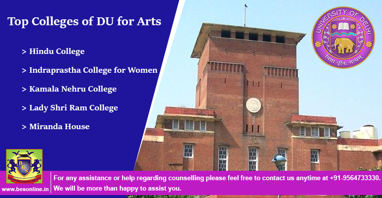 Top Colleges of DU for Arts