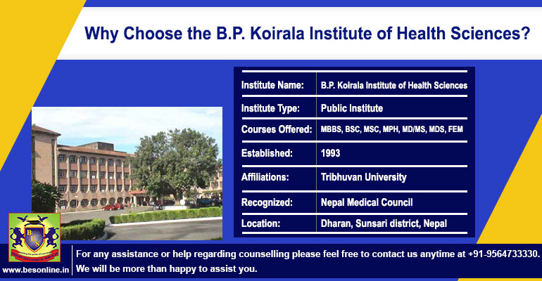Why Choose the B.P. Koirala Institute of Health Sciences?