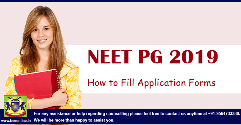 How to Fill NEET PG 2019 Application Forms