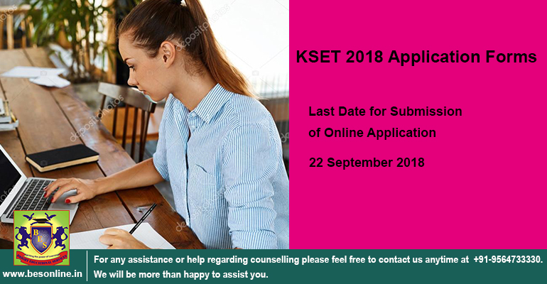 KSET 2018 Application Forms to be filled by 22nd September