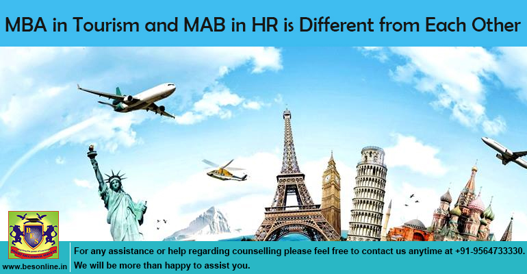 MBA in Tourism and MAB in HR is Different from Each Other