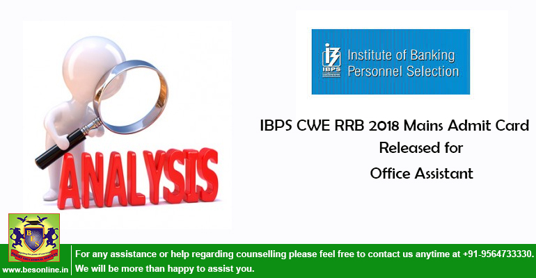IBPS CWE RRB 2018 Mains Admit Card Released for Office Assistant