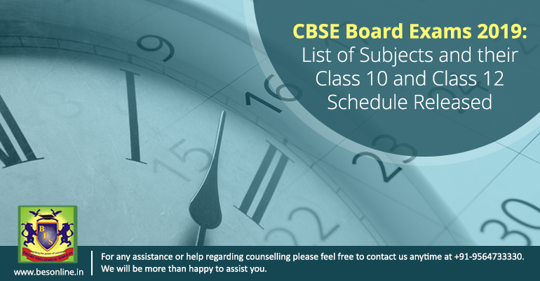 CBSE Board Exams 2019: List of Subjects and their Class 10 and Class 12 Schedule Released