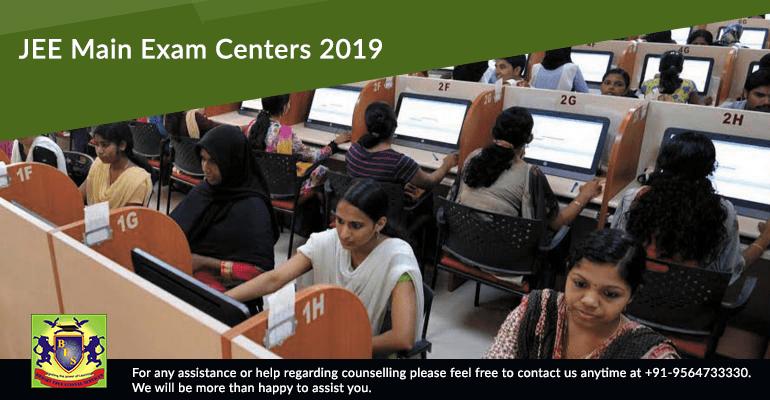 JEE Main Exam Centers 2019
