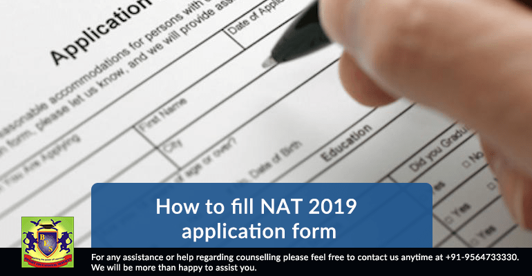 How to fill NAT 2019 application form