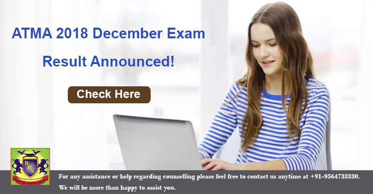Association of Indian Management Schools Released ATMA Dec 2018 Results   ATMA 2018 Result Available for 23 December Exam! a7e36e450