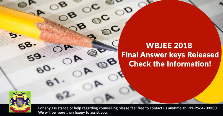 WBJEE 2018 Final Answer keys Released; Check the Information!