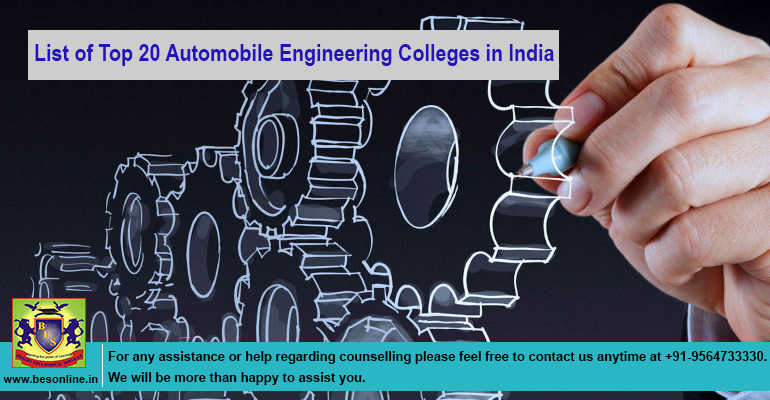 List of top 20 Automobile Engineering colleges in India