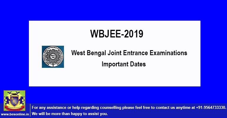 WBJEE-2019 Exam Details; Check Website!