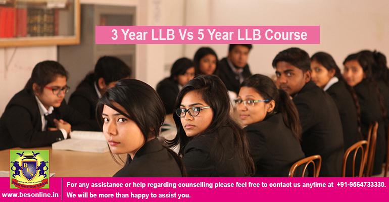 3 Year LLB Vs 5 Year LLB Course