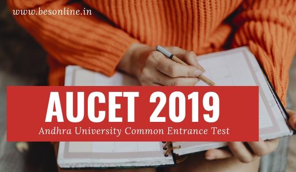 Andhra University Common Entrance Test AUCET 2019