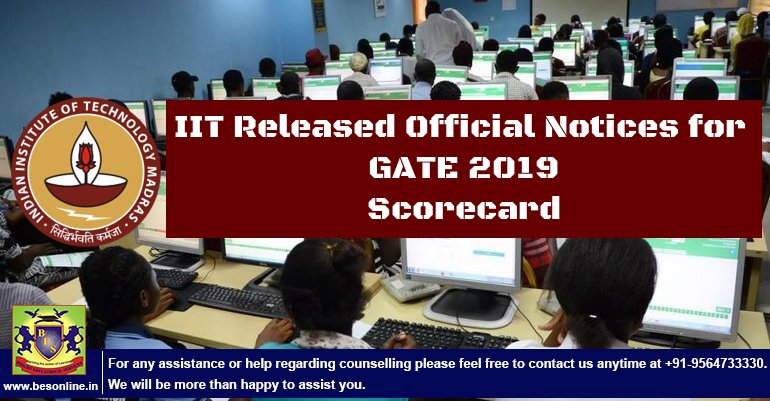 GATE 2019 Score Card Released by IIT Madras; Check the Details!