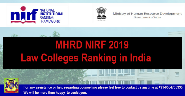 MHRD NIRF 2019: Top Law Colleges Ranking in India