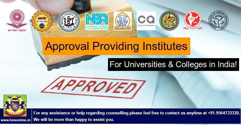 Recognition awarding institutes for Universities and Colleges in India!
