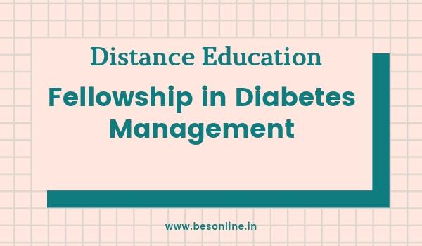 CMC Vellore Correspondence Fellowship in Diabetes Management 2019