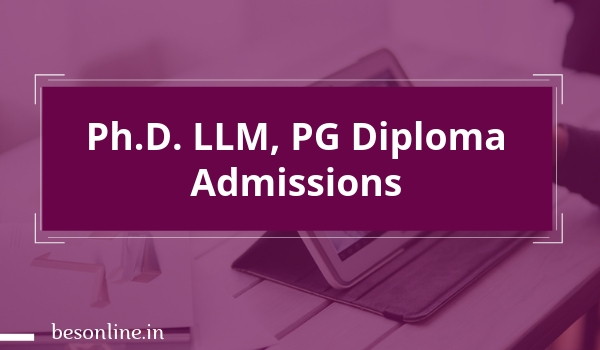 Indian Law Institute Ph D  LLM, PG Diploma Admissions 2019