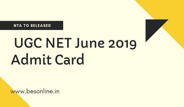 nta net june 2019 admit card