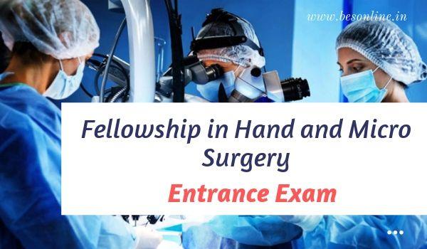 KGMU Fellowship in Hand and Micro Surgery Entrance Exam 2019