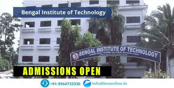 Bengal Institute of Technology Courses