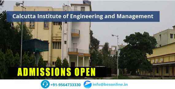 Calcutta Institute of Engineering and Management Admissions