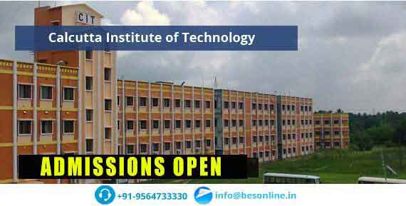 Calcutta Institute of Technology Admissions