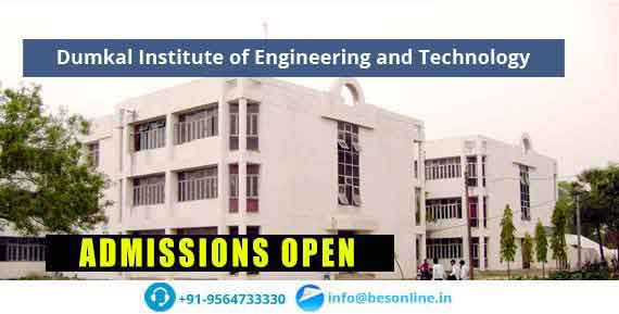 Dumkal Institute of Engineering and Technology Courses