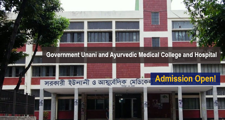 Government Unani and Ayurvedic Medical College and Hospital Admission