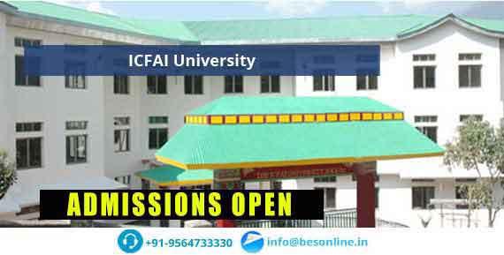 ICFAI University Sikkim Fees Structure