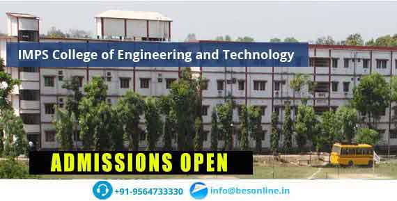 IMPS College of Engineering and Technology Courses