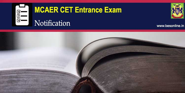 MCAER CET 2018 Entrance Exam Notification