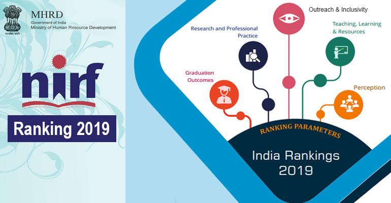 MHRD NIRF Ranking 2019