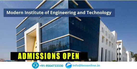 Modern Institute of Engineering and Technology Fees Structure