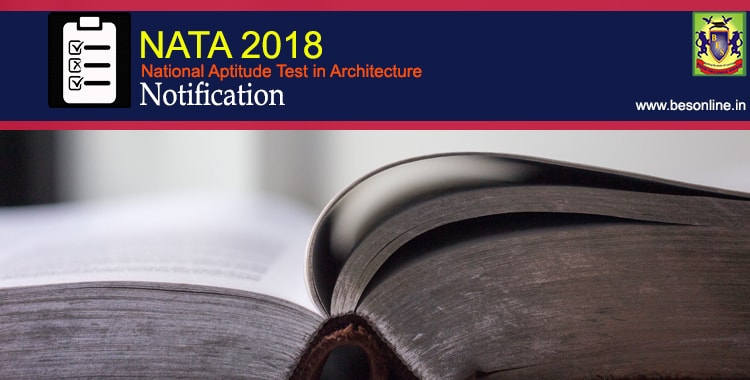 NATA 2018 Entrance Exam Notifications