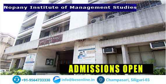 Nopany Institute of Management Studies Admissions