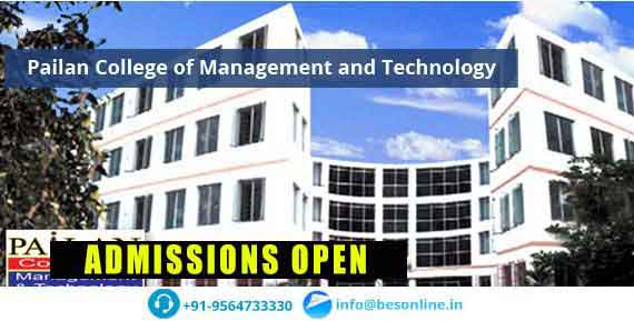 Pailan College of Management and Technology Fees Structure