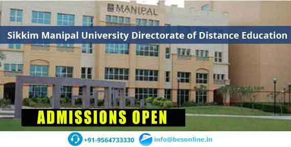 Sikkim Manipal University Directorate of Distance Education Admissions