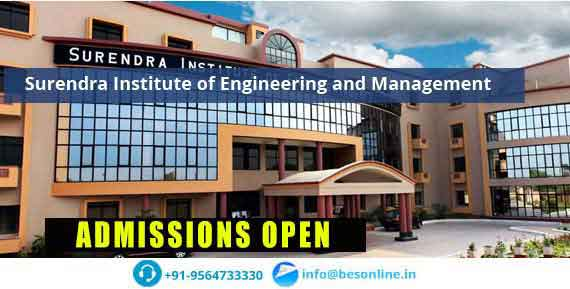 Surendra Institute of Engineering and Management Admissions
