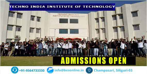 Techno India Institute of Technology Admissions