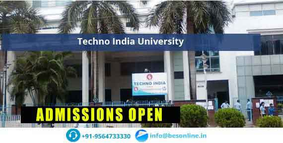 Techno India University Courses
